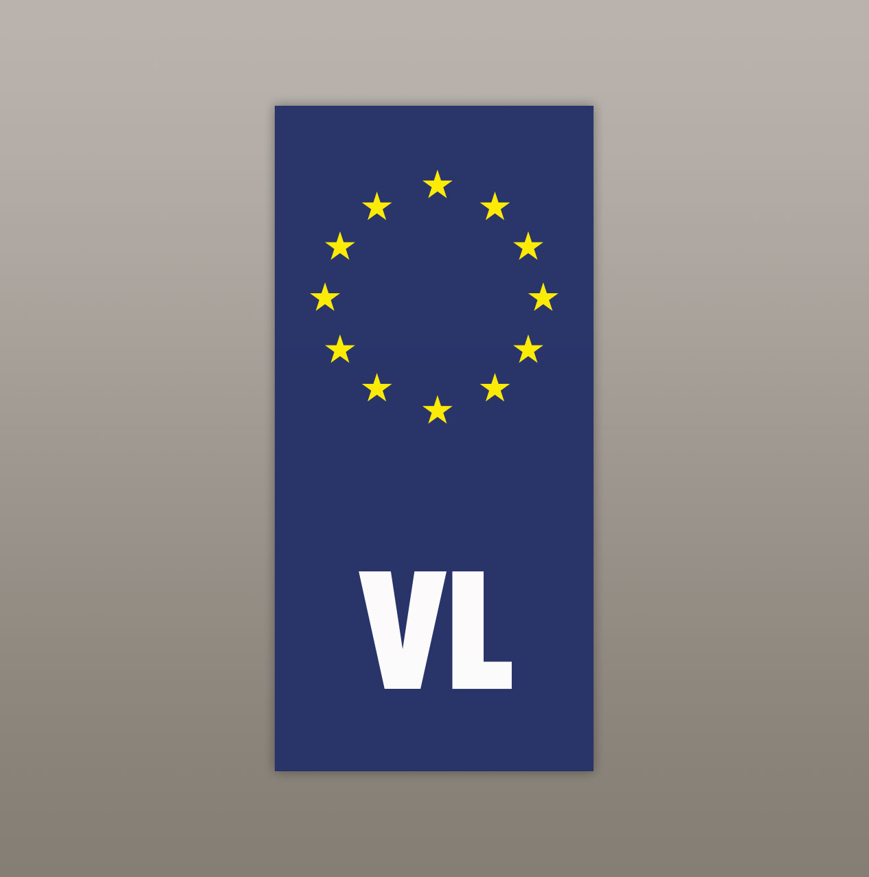 Sticker 'Vlaanderen in Europa' (autoplaat B-model) image